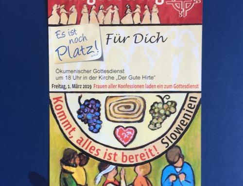 Weltgebetstag der Frauen am 1.3.19
