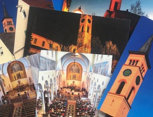 Neue Postkarten der Stadtpfarrkirche