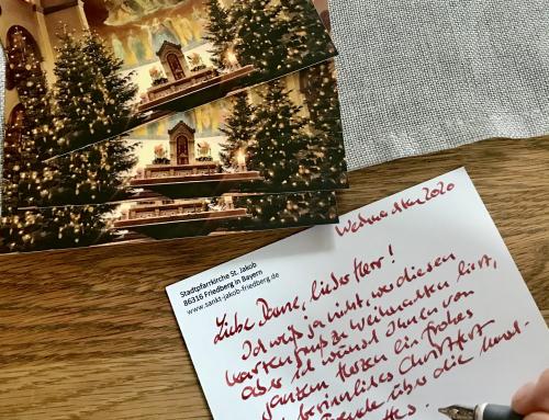 Weihnachtskartenaktion für die Seniorenheime