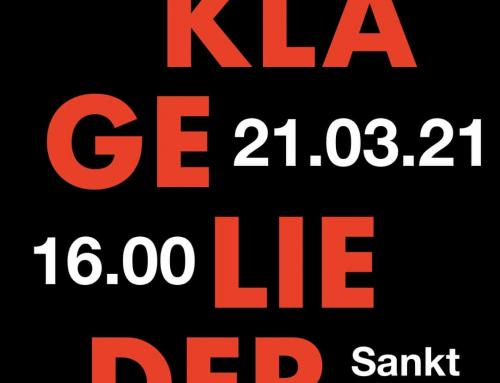 Leseoratorium mit Orgel am 21.03.21: Klagelieder